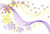 Vector clipart: flowers on white background