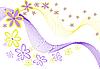 Векторный клипарт: цветы на белом фоне