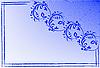 Векторный клипарт: Синий визитная карточка