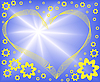 abstract blue background with heart