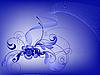 Векторный клипарт: синий цветочный дизайн