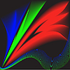 Vector clipart: colored feathers