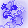 Vector clipart: Blue flower and circles