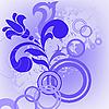 Векторный клипарт: Синий цветок и круги