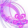 Векторный клипарт: абстрактный фон с арками и цветами