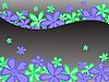 Векторный клипарт: черный цветочный фон