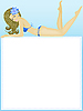 Vector clipart: girl in swimsuit