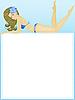 Векторный клипарт: Девушка в купальнике