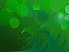 Vector clipart: Glittering green lights