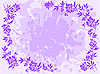 Vector clipart: lilac floral frame