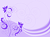 Vector clipart: lilac background with swirls