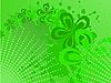 Vector clipart: Green halftone