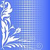 Векторный клипарт: полутона синие цветы