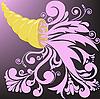 Vector clipart: golden horn of plenty