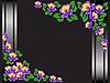 Vector clipart: black floral frame