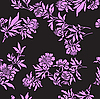 Vector clipart: black seamless floral pattern