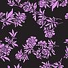 Векторный клипарт: черный бесшовный цветочный узор