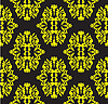 Vector clipart: Yellow seamless floral pattern