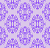 Vector clipart: lilac seamless floral pattern