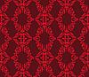 ID 3133586 | Rotes nahtloses florales Muster | Stock Vektorgrafik | CLIPARTO