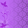 Vector clipart: lilac floral composition
