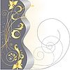 Vector clipart: gold stars and floral pattern