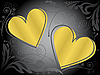 Vector clipart: gold hearts