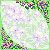 Vector clipart: frame of violets