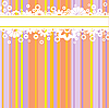 Vector clipart: white flowers on colored strips