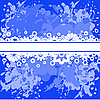 Vector clipart: Blue background with white flowers