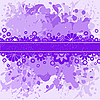 Vector clipart: violet background with lilac flowers