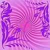 Vector clipart: Purple composition