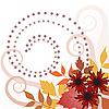 Vector clipart: Autumn leaves with curls