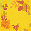 Vector clipart: yellow background with leaves