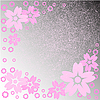 Vector clipart: pink flowers on gray background