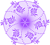 Vector clipart: violet circle