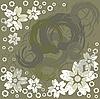 Vector clipart: dark green abstract