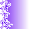 Vector clipart: purple butterfly