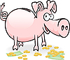 Vector clipart: piggy-piggy