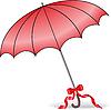 Vector clipart: red umbrella