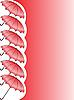 Vector clipart: red umbrellas