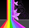 Vector clipart: rainbow flowers