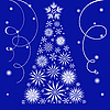 Vector clipart: Christmas tree from snowflakes
