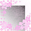 Vector clipart: Pink flowers on scratches