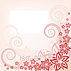 Vector clipart: Floral pink background