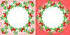Vector clipart: rowanberry Wreaths