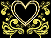 Vector clipart: heart of gold