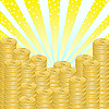 Vector clipart: background of coins