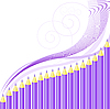 Vector clipart: background of purple crayons