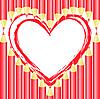 Vector clipart: Heart of pencils
